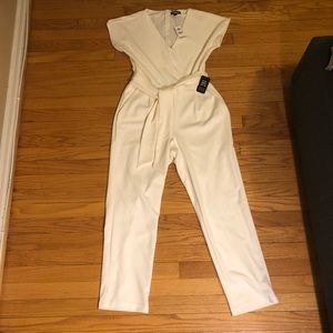 NWT Ivory Jumpsuit with Pockets!